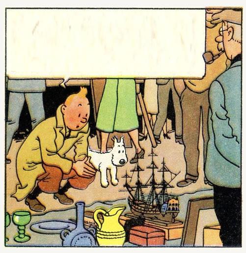 Tintin au marché aux puces de la Datcha