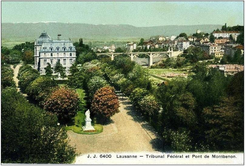 Tribunal et le Pont de Montbenon