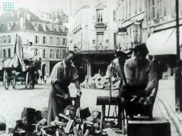 Film Lumière 1896 - Première vue cinémathographique de Lausanne - Coupeurs de bois